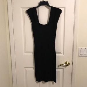 Max Studio knit sweater dress M black MSRP $98